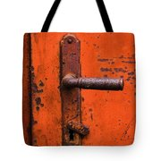 Orange Door Handle Tote Bag