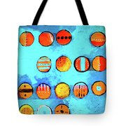 Orange Dots Tote Bag