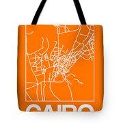 Orange Map Of Cairo Tote Bag