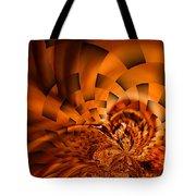 Orange Weave Tote Bag