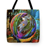 Orbing Aloha Lei Tote Bag