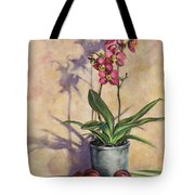 Orchids And Plums Tote Bag