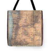 Oregon Washington Historic Map Colton Sepia Map Hand Painted Tote Bag
