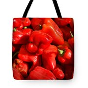 Organic Red Peppers Tote Bag