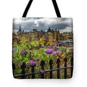 Overlooking The Train Station In Edinburgh Tote Bag
