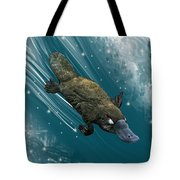 P Is For Platypus Tote Bag