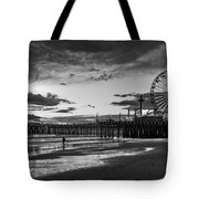 Pacific Park - Black And White Tote Bag