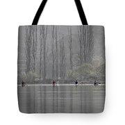 Paddling Under Poplars Tote Bag