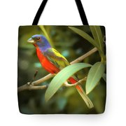 Painted Bunting Male Tote Bag