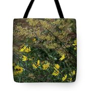 Painted Fall Flowers Tote Bag