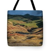 Painted Hills Shadows Tote Bag by Matthew Irvin