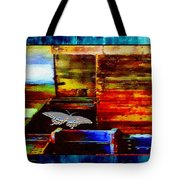 Painted Shadows Of A Different Love And Time Tote Bag