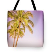 Palm Trees And Pink Sky Tote Bag