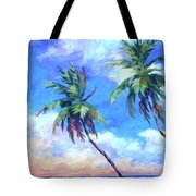 Palms And Evening Clouds Tote Bag