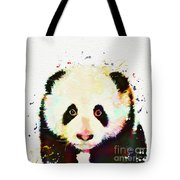 Panda Watercolor Tote Bag