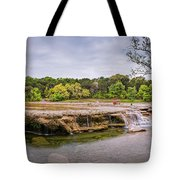 Panorama Of Link Falls At Upper Bull Creek District Greenbelt Park - Austin Texas Hill Country Tote Bag