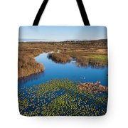 Panorama Of Mouth Of Betsie River Tote Bag