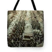 Panorama Of Pit 1, Terra Cotta Warriors Tote Bag