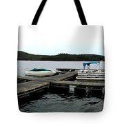 Panorama Of Schroon Lake In The Adirondack Mountains In New York Tote Bag by Rose Santuci-Sofranko