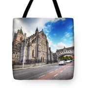 panorama of The Cathedral of Dublin Tote Bag by Ariadna De Raadt