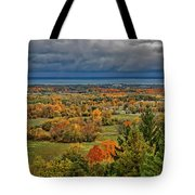 Panoramic Autumn View Tote Bag