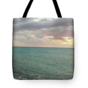 Panoramic View Of Aphrodite's Birthplace Or Petra Tou Romiou In Cyprus Tote Bag