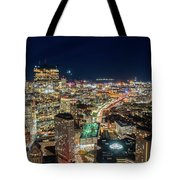 Panoramic View Of The Boston Night Life Tote Bag