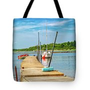 Paradise Sailing Day In Maine Tote Bag