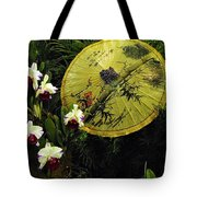 Parasol Among The Orchids Tote Bag