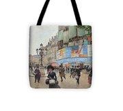 Paris, Rue Du Havre Circa 1882 Tote Bag