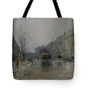 Paris Street Scene  Tote Bag