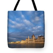 Parliament On The Danube Tote Bag by Davor Zerjav