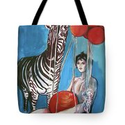 Party Of One Zebra Boy Tote Bag by Rene Capone