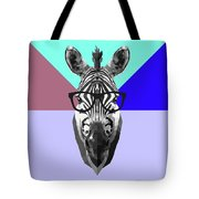 Party Zebra In Glasses Tote Bag