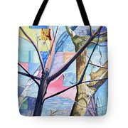 Patchwork Trees Tote Bag