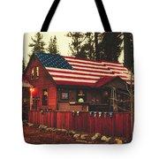 Patriotic Bar And Grill Tote Bag