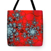 Pattern Synchro Red Tote Bag by Don Northup