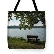 Peaceful Bench Tote Bag