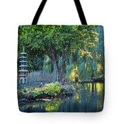 Peaceful Oasis - Japanese Garden Lake Tote Bag