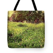 Peaceful Pastoral Perspective Tote Bag by Carol Whaley Addassi
