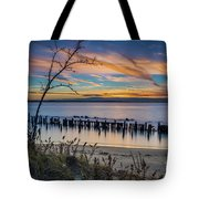 Peaceful Sunset At Sandy Hook Tote Bag