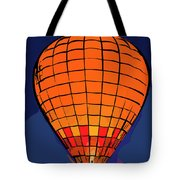 Peach Hot Air Balloon Night Glow In Abstract Tote Bag