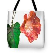 Peach Morning Glory Tote Bag