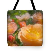 Peach Yellow Roses Tote Bag