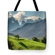 Peak And Meadow Tote Bag by James Billings