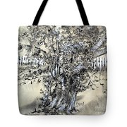 Pear Tree And Pickets Tote Bag