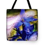 Peek A Blue Tote Bag