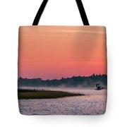 Pelican Mist Tote Bag by Patti Deters