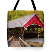 Pemigewasset River Covered Bridge Tote Bag by James Billings