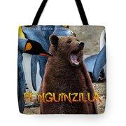 Penguinzilla Tote Bag by ISAW Company